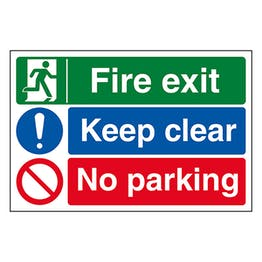 Fire Exit / Keep Clear / No Parking