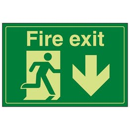GITD Fire Exit / Man Running / Down