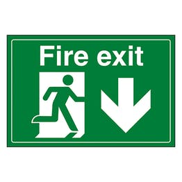 Fire Exit / Man Running / Down