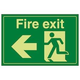 GITD Fire Exit / Man Running / Left