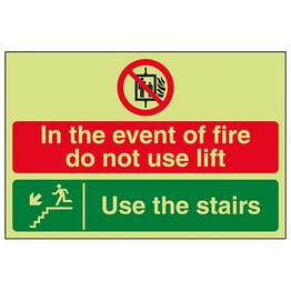 GITD In The Event Of Fire Do Not Use Lift / Use The Stairs Down Left