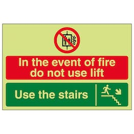 GITD In The Event Of Fire Do Not Use Lift / Use The Stairs Down Right