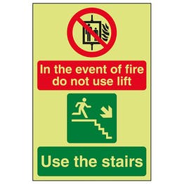 GITD In The Event Of Fire Do Not Use Lift / Use The Stairs Right