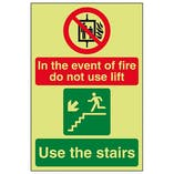 GITD In The Event Of Fire Do Not Use Lift / Use The Stairs Left