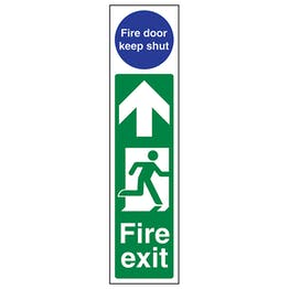 Fire Exit Door Plate Man Right/ Fire Door Keep Shut