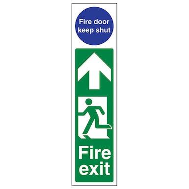 Fire Exit Door Plate Man Left/ Fire Door Keep Shut