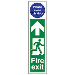 Fire Exit Door Plate Man Right/ Please Close This Door