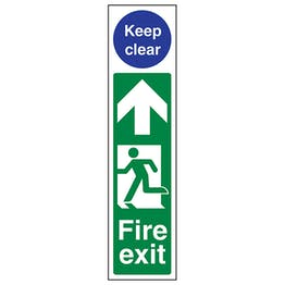 Fire Exit Door Plate Man Left / Keep Clear