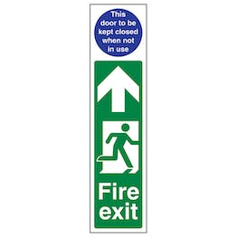 Fire Exit Door Plate Man Right / Door To Be Kept Closed