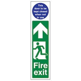 Fire Exit Door Plate Man Left / Door To Be Kept Closed