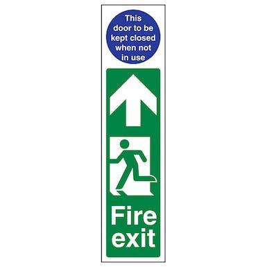 Fire Exit Door Plate Man Left / Door To Be Kept Closed