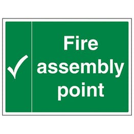 Eco-Friendly Fire Assembly Point With Tick Landscape