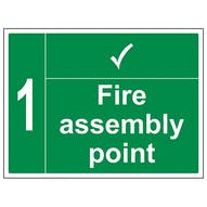 Fire Assembly Point With Tick And Number