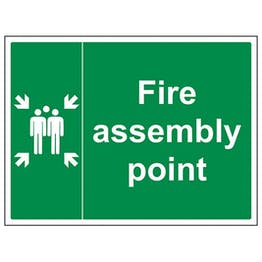 Eco-Friendly Fire Assembly Point With Family Landscape