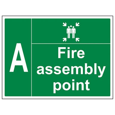 Fire Assembly Point With Family and Letter
