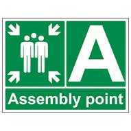 Assembly Point With Letter - Large Landscape