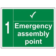 Emergency Point with Tick and Number - Large