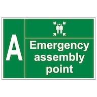 Emergency Point with Tick and Letter - Large