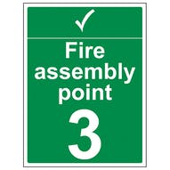 Emergency Assembly Point - Tick and Number