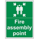 Eco-Friendly Fire Assembly Point With Family Portrait