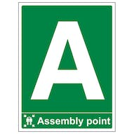 Assembly Point With Letter - Portrait