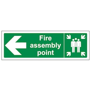 Fire Assembly Point Arrow Left
