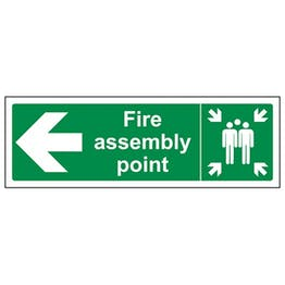 Eco-Friendly Fire Assembly Point Arrow Left