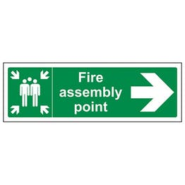 Eco-Friendly Fire Assembly Point Arrow Right