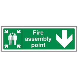 Fire Assembly Point Arrow Down