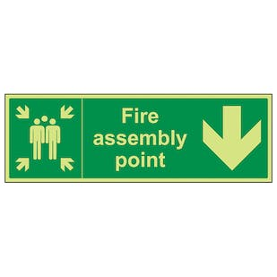 GITD Fire Assembly Point, Arrow Down
