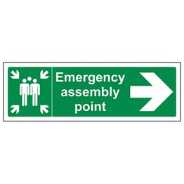 Eco-Friendly Emergency Assembly Point Arrow Right