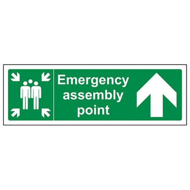 Emergency Assembly Point Arrow Up