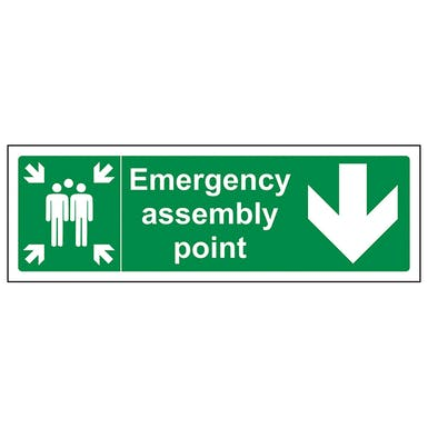 Emergency Assembly Point Arrow Down