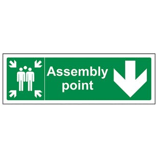 Assembly Point Arrow Down
