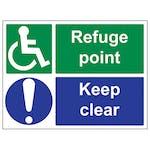 Refuge Point/Keep Clear - Large Landscape
