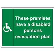 Premises Have A Disabled Plan - Large Landscape