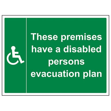 Premises Have A Disabled Plan - Large Landscape