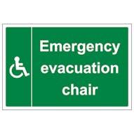 Emergency Evacuation Chair - Large Landscape