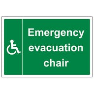 Emergency Evacuation Chair - Large Landscape