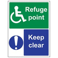 Refuge Point/Keep Clear - Portrait