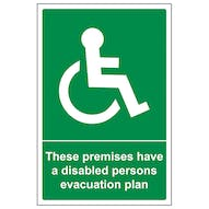 These Premises Have A Disabled Plan - Portrait