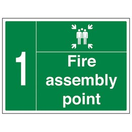 Fire Assembly Point with Family and Number 1