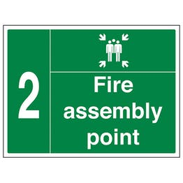 Fire Assembly Point with Family and Number 2