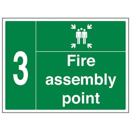 Fire Assembly Point with Family and Number 3