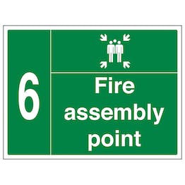Fire Assembly Point with Family and Number 6