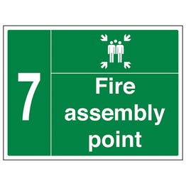 Fire Assembly Point with Family and Number 7
