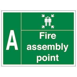 Fire Assembly Point with Family and Letter A