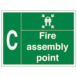 Fire Assembly Point with Family and Letter C