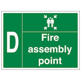 Fire Assembly Point with Family and Letter D