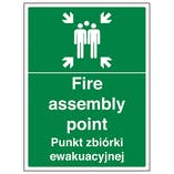 English/Polish - Fire Assembly Point